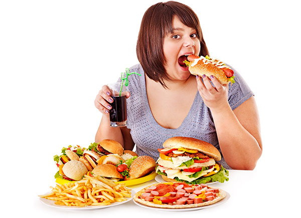 women-eating-fast-food