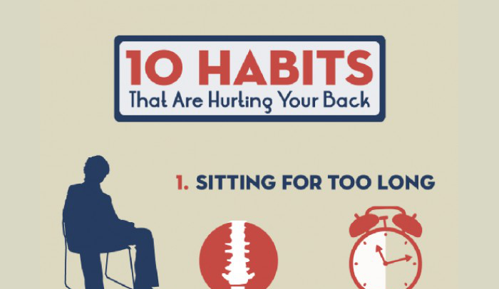 10 Habits that Hurt Your Back