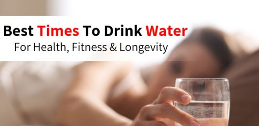 Best Times To Drink Water For Health, Fitness & Longevity