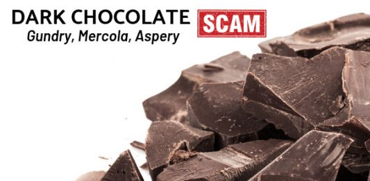 Dark Chocolate Scam - Gundry, Mercola, Aspery, etc.