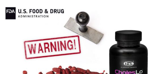 CholesLo's FDA Warning About Red Yeast Rice & Lovastatin