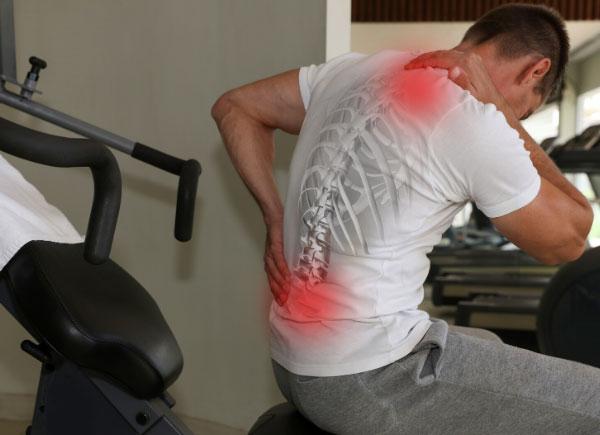 gym back pain