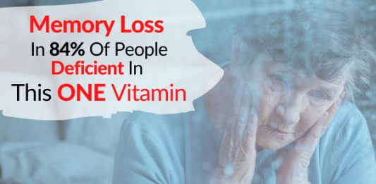 Memory Loss In 84% Of People Deficient In This ONE Vitamin