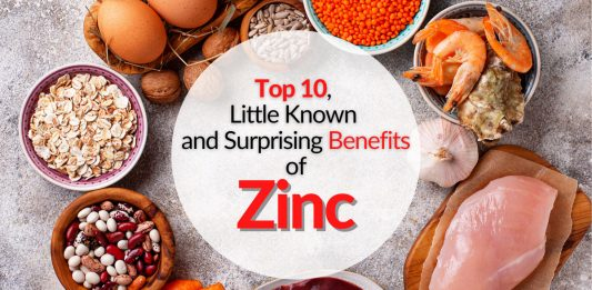 Top 10, Little Known and Surprising Benefits of Zinc
