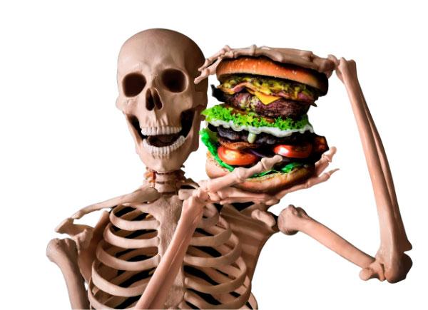 junk food skeleton