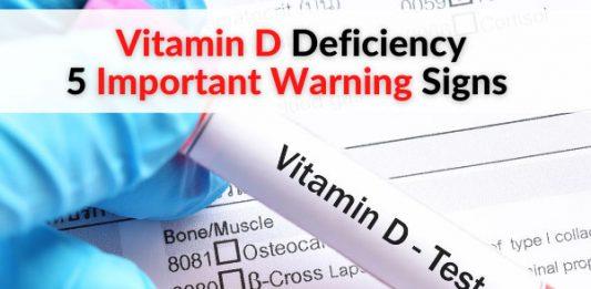 Vitamin D Deficiency - 5 Important Warning Signs