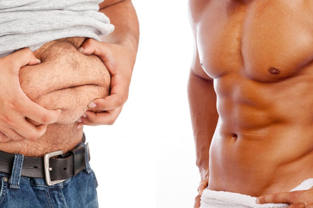 belly fat vs abs