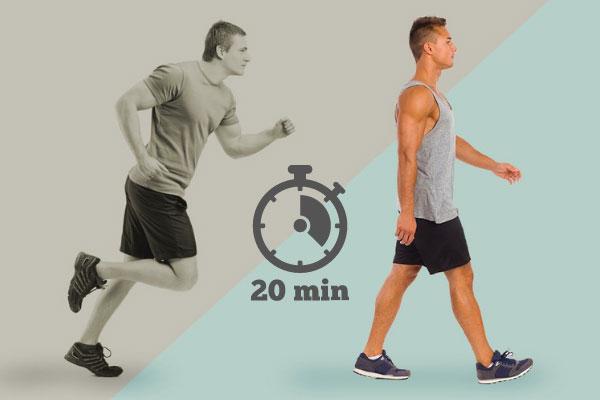walk 20 min