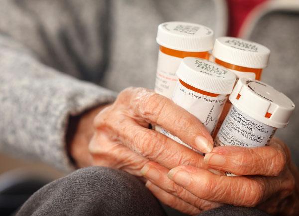 bunch of prescription drugs