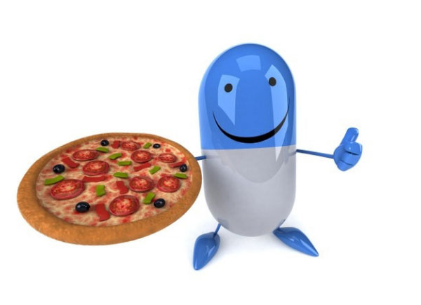 pizza and pill